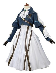 This is so awesome this is Violet Evergarden's Auto Memories Doll outfit! Violet Evergarden is a wonderful anime on Netflix. Cosplay Outfits, Anime Outfits, Mode Outfits, Fashion Outfits, Pretty Outfits, Pretty Dresses, Beautiful Dresses, Fantasy Dress, Fantasy Clothes
