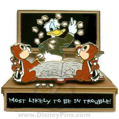 Pin Trading University - Most Likely To - Be in Trouble - Chip and Dale | Disney Pin