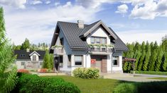 DOM.PL™ - Projekt domu Dom przy Wiosennej 6 CE - DOM EB5-35 - gotowy koszt budowy Home Fashion, Mansions, Interior Design, House Styles, Home Decor, Spring, Nest Design, Decoration Home, Home Interior Design