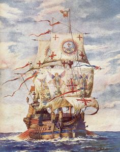 Spanish Galleon San Martín, Admiral Álvaro de Bazán's flagship at the Battle of the Terceira Islands (Battle of the Azores), which would seal the unification of the Kingdoms of Spain and Portugal.