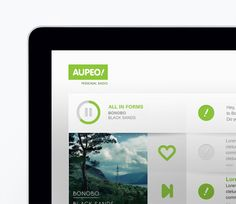 Branding, Interaction Design / AUPEO! Personal Radio by Rene Bieder, via Behance