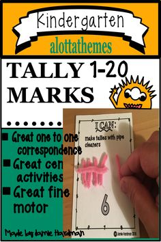 This activity teaches an understanding that one mark is equal to one object! ( a hard concept to grasp). Tally marks are an easy way to keep track of numbers in groups of five! Students learn to count, group, and add. Subtraction Kindergarten, Numbers Kindergarten, Kindergarten Learning, Learning Numbers, Student Learning, Teaching, Alphabet Activities, Hands On Activities, Tally Marks