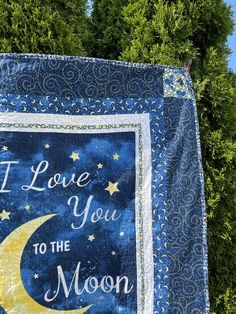 """Quilt """"I love You"""" 42"""" x 64"""" machine quilted Picnic / travel size free 3 letter monogram available Cotton Bedding, Cotton Quilts, I Love Mommy, I Love You, Christmas Time, Christmas Gifts, Bachelor Gifts, Picnic Blanket, Outdoor Blanket"""