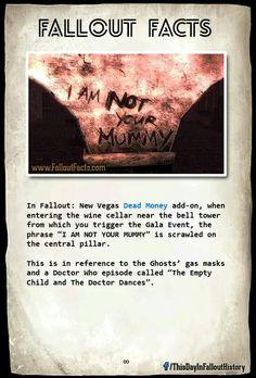 Fallout Facts not skyrim but I'll just put it there Fallout Lore, Fallout Facts, Fallout Posters, Fallout Funny, Fallout 3 New Vegas, Vault Dweller, Nerd Love, Elder Scrolls, Skyrim