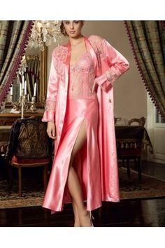 Batista 692 6 Pcs Satin Robe Set will make you redefine comfort when you wear this cozy and stylish set. Lingerie Fine, Satin Lingerie, Pretty Lingerie, Bridal Lingerie, Beautiful Lingerie, Women Lingerie, Pyjama Satin, Satin Nightie, Satin Sleepwear