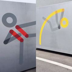Pictorama Two of the series of #pictograms we designed for the @olympicmuseum, #Lausanne #olympics #olympicmuseum #pictos #basedesign @base_design