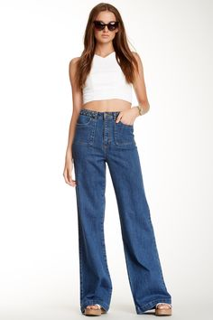 I need these. Must find. Rachel Zoe Braided Wide Leg Jean by Rachel Zoe on @nordstrom_rack