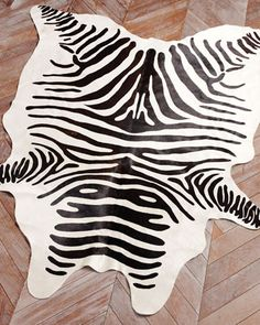 Zebra Hide Rug at Neiman Marcus.