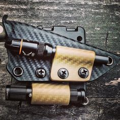 Custom ESEE Izula Sheath featuring an Olight i3s and EXOTAC fire steel attachment by Armatus Carry Solutions