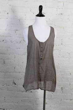 """Theory Women's Brown Sleeveless 100% Cotton """"Tierney"""" Tank Top M #Theory #TankCami #Casual"""