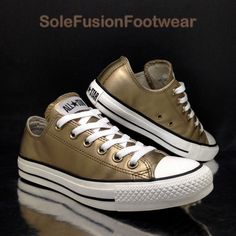 67442bde946b5 Converse Womens All Star Leather Trainers Gold Size 5 Metallic Sneaker US 7  · Balenciaga ShoesChanel ...