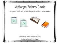 I am always looking for opposite cards that I can use with my younger students or non-readers, but they are hard to come by, so I created my own set!!20 pairs of opposites with pictures and words! So many ways these can be used- flashcards, memory game, matching game, etc!!Hope you find them useful as well!!Enjoy!