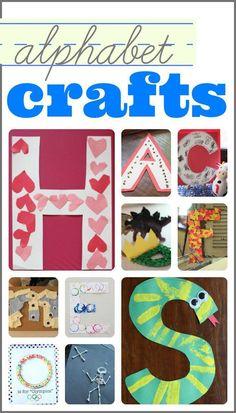 Lots of Alphabet Crafts!