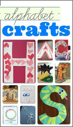 Lots of Alphabet Crafts!