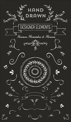 free hand drawn logo vectors and clip art: