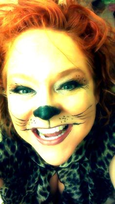 Cat make up Halloween
