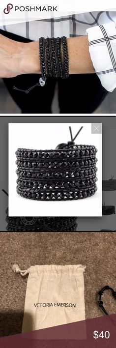 Midnight Mist Wrap Bracelet Gorgeous all black wrap bracelet. Never used. This color has been sold out for a long time! Victoria Emerson Jewelry