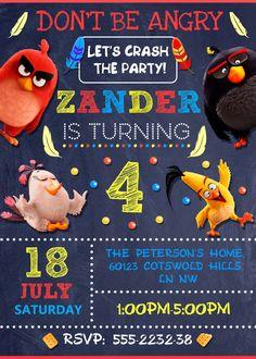 Invitación de Angry Birds. Fiesta de Angry por GoodPrintableShop
