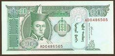 Mi colección de billetes: Mongolia