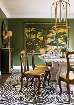 how to use green to create a fabulous dining room   more