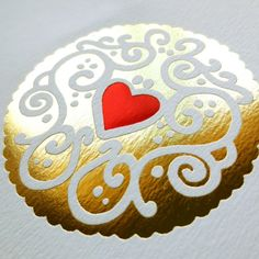 d3fbe284585d Gold and Ruby Jammy Heart print by Nikki McWilliams British Biscuits