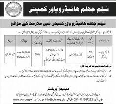 Neelam Jhelum OTS Jobs 2021