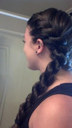 French rope braid, or if you're black, a long flat twist braid. Some girl was talking about one of these on a YouTube video but didn't show it so I had no idea what she was talking about lol