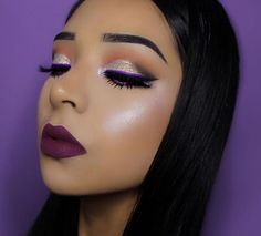 Stunning @vemakeup713 in 'Fetish' Velvetine and 'Orchidaceous' Liquid Liner ️ #limecrime #velvetines