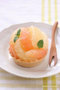 ★お菓子レシピ★ グレープフルーツのフレッシュタルト : marimo cafe