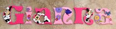 Personalized Wooden Wall Letters for Kids' Rooms by AllysCustomArt, $10.00