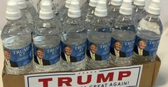 """Donald Trump is escalating his attacks on Senator Marco Rubio to the next level with a special delivery for his rival: """"Trump Ice Natural Spring Water. Drinking Memes, Agua Mineral, Natural Spring Water, Water Delivery, Water Systems, Falling Apart, Drinking Water, Water Bottle, Bottled Water"""