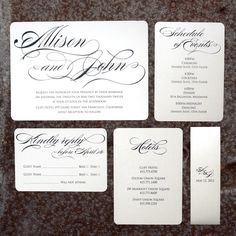 Custom Made The Allison Set - Modern Formal Wedding Invitation Sample