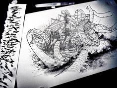 Fragged Seas Artwork on my Desk