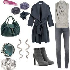 """Sombre TSu SD"" by skugge on Polyvore. I love that ring! ... and the bag!"