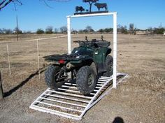 4-Wheeler-Gator Gate Never get off to                 open the gate again!