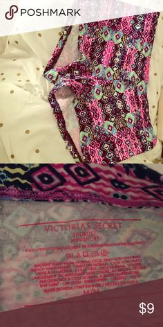 Shortie Aztec print panty Cotton panty bought and never worn! Victoria's Secret Intimates & Sleepwear Panties