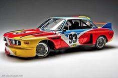 Alexander Calder Paints a BMW - Batman Poster - Trending Batman Poster. - Alexander Calder Paints a BMW Suv Bmw, Bmw E9, Bmw Cars, Alexander Calder, Vintage Racing, Vintage Cars, Le Mans, Bugatti, Batman Poster