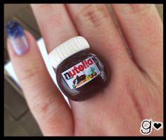 AHHHHHHHHHHHHHHHHHHHHH Nutella inspired Ring  Chocolate  Miniaure by GabriellesCreations, $12.00