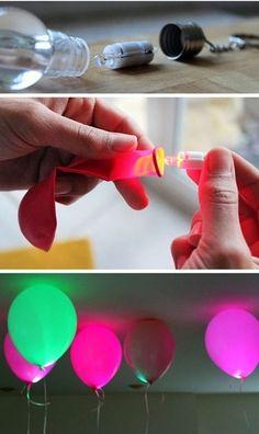 Balões de LED! Dica para arrasar na decoração das festas!