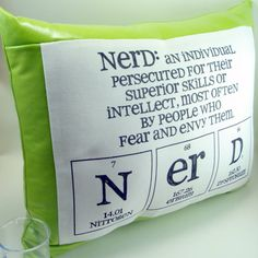 Nerd: An individual persecuted for their superior skills or intellect, most often by people who fear and envy them.
