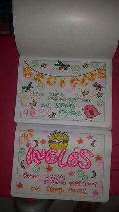 Grammar Book, Cute Notebooks, Decorative Boxes, Lettering, Decorated Notebooks, Grammar Notebook, Drawing Drawing, Cute Notes, Drawing Letters