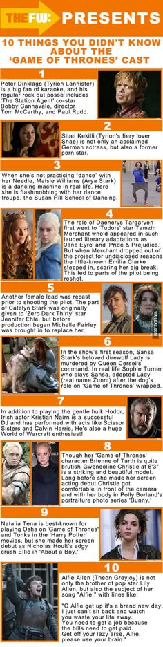 Trivia: Game Of Thrones :)