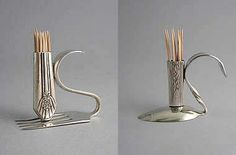 Silverware Toothpick holder from hollow handle knife and spoon or fork