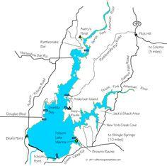 Folsom Lake Trail Map 95630 Pinterest Trail Maps