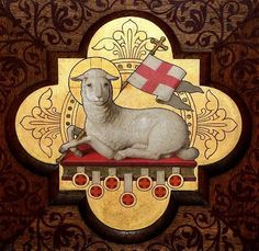 (Image is of the victorious Lamb, a symbol for Christ's Resurrection.)