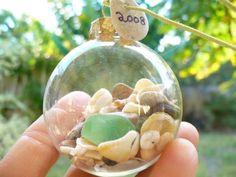 BEACH BALL 2012....make your own ornament kit, Christmas gift, diy craft, supplies. $9.00, via Etsy.