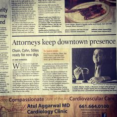 Did you catch the article in Saturday's The Bakersfield Californian on our law firm's history? We'll post it soon on Chainlaw.com.