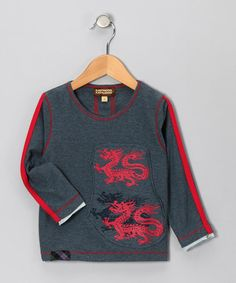 Take a look at this Gray & Teal Dragon Tee - Infant, Toddler & Boys by Kartoons Kataloons on #zulily today!