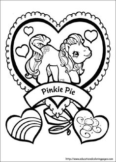 Pinkie Pie My Little Pony Colouring Pages