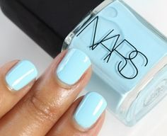 Nail colors for summer, bright nails for summer, spring colors, essie, lo. Manicure Y Pedicure, Minx Nails, Creative Nails, Nail Polish Colors, Polish Nails, Nail Polishes, Color Nails, Gel Nails, Light Blue Nail Polish